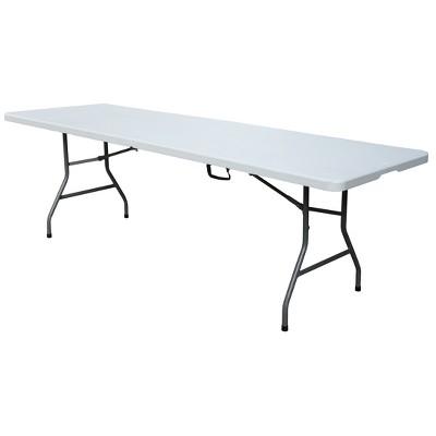 8' Folding Table Off-White - Plastic Dev Group