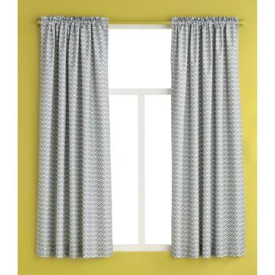 Curtain Panel -Gray Chevron - Room Essentials™