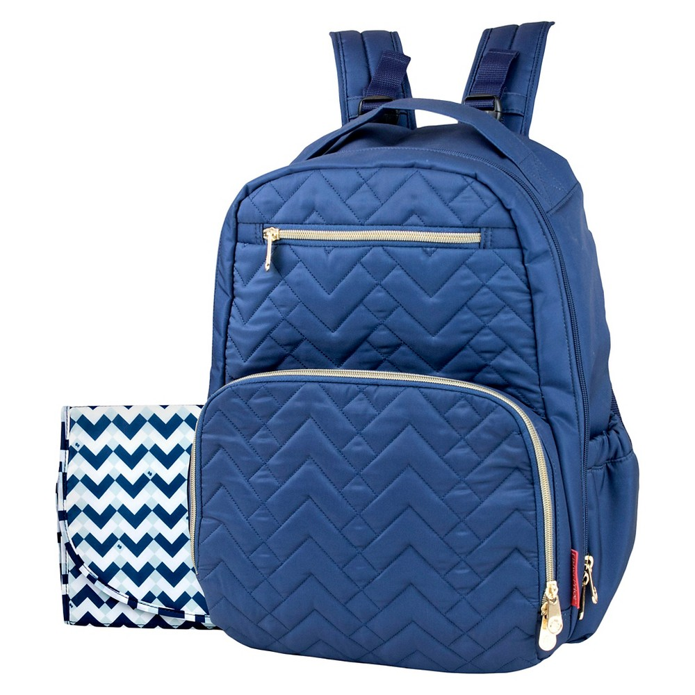 Image of Fisher-Price Classic Quilted Backpack Navy