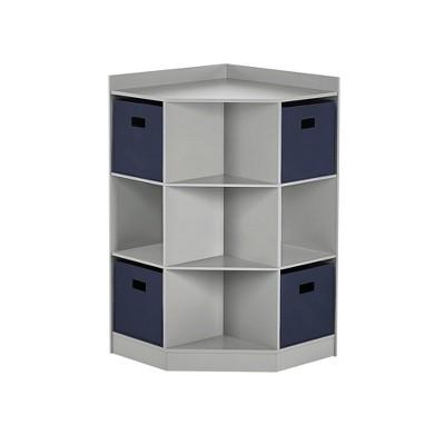 5pc Kids' Corner Cabinet Set with 4 Bins Set - RiverRidge Home