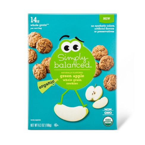 Organic Whole Grain Green Apple Cookies - 6.3oz - Simply Balanced™ - image 1 of 1