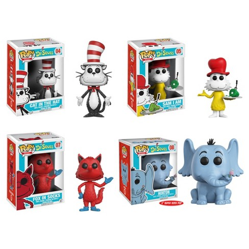 "Funko POP! Books Dr. Seuss Collectors Set: Cat in the Hat, Horton 6"", Sam I Am, Fox in Socks - image 1 of 5"