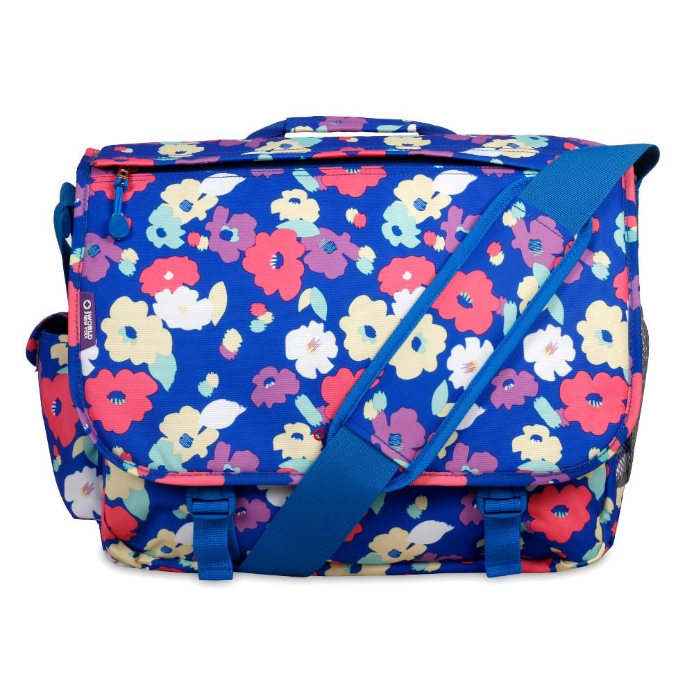 J World Thomas Laptop Messenger Bag - Petals, Blue