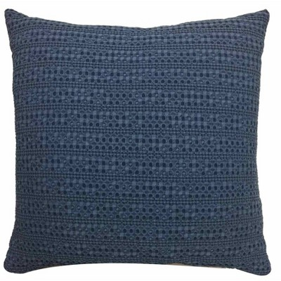 Oversized Square Washed Waffle Pillow Navy - Threshold™