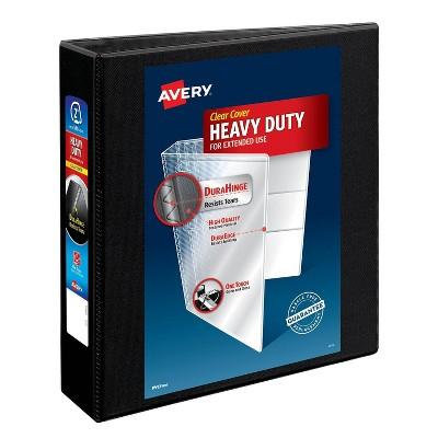 "Avery 2"" 500 Sheet Heavy Duty Ring Binder Black"