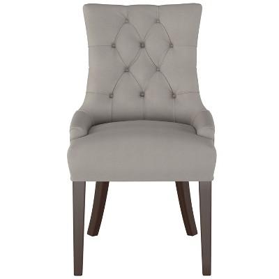 English Arm Dining Chair Medium Gray Velvet - Threshold™