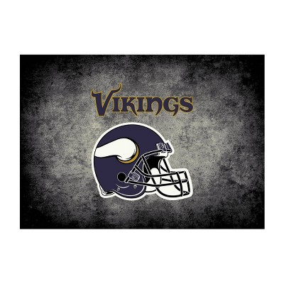 NFL Minnesota Vikings 4'x6' Distressed Rug