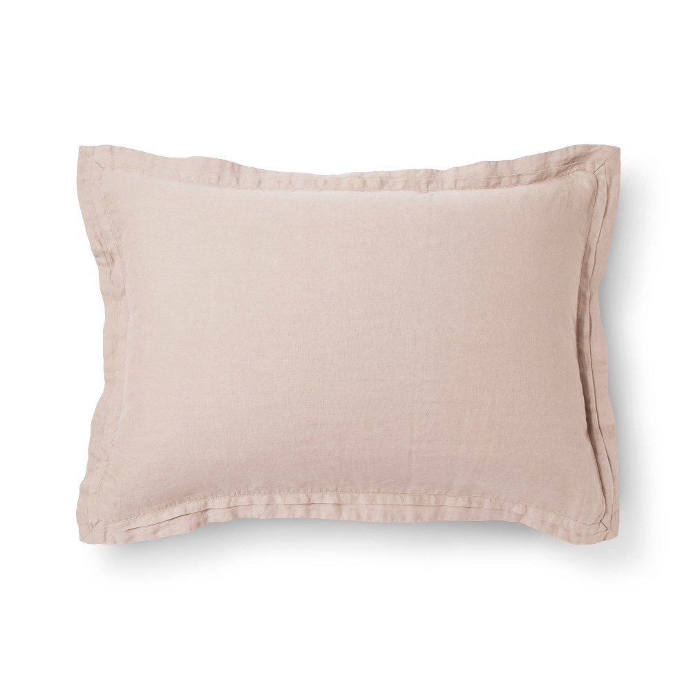 Blush Lightweight Linen Pillow Sham (Standard) - Fieldcrest