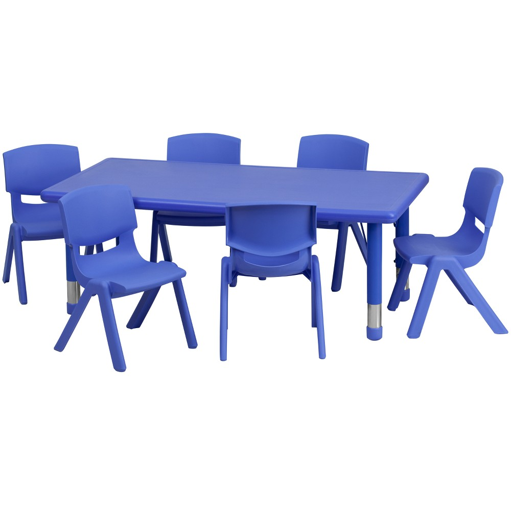 Riverstone Furniture Collection Activity Table Set Blue