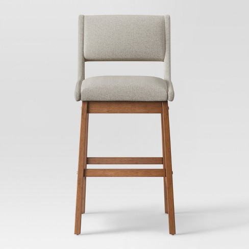 "31"" Mid Century Barstool Beige - Project 62™ - image 1 of 5"