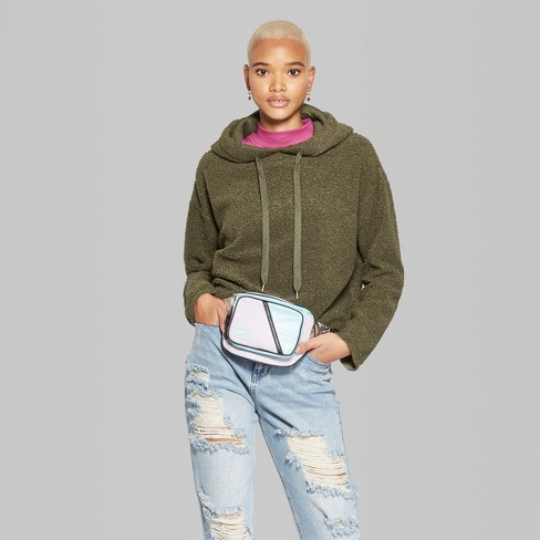 Women s Fuzzy Hoodie Pullover - Wild Fable™...   Target 4ee99318a