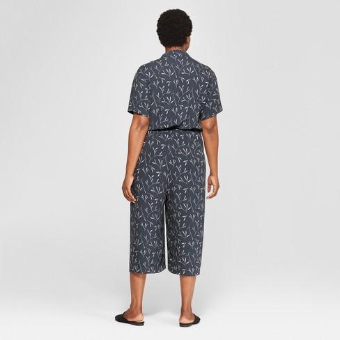 6b1708ab16e9 Women s Plus Size Tie Front Jumpsuit - Universal...   Target