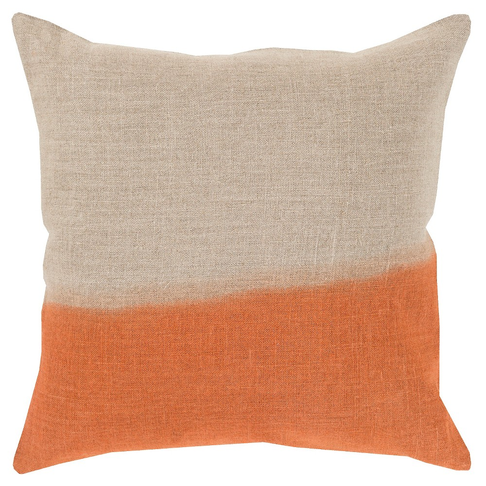 Orange Dip Dyed Throw Pillow 22