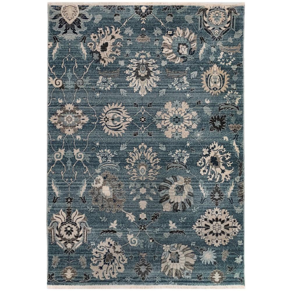 3'X5' Floral Woven Accent Rug Blue - Liora Manne