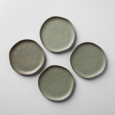4pk Stoneware Salad Plate Green - Hearth & Hand™ with Magnolia