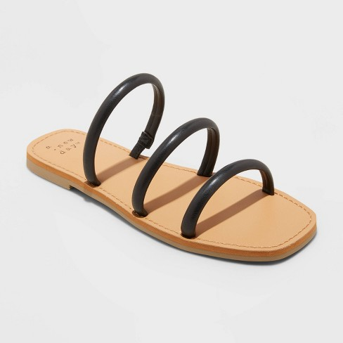 Women's Wren Triple Strap Sandals - A New Day™ - image 1 of 4