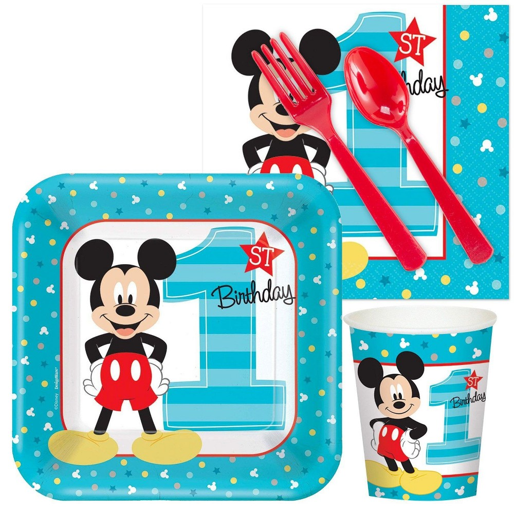 Low Price 16ct Mickey Mouse 1st Birthday Snack Pack Multi Colored