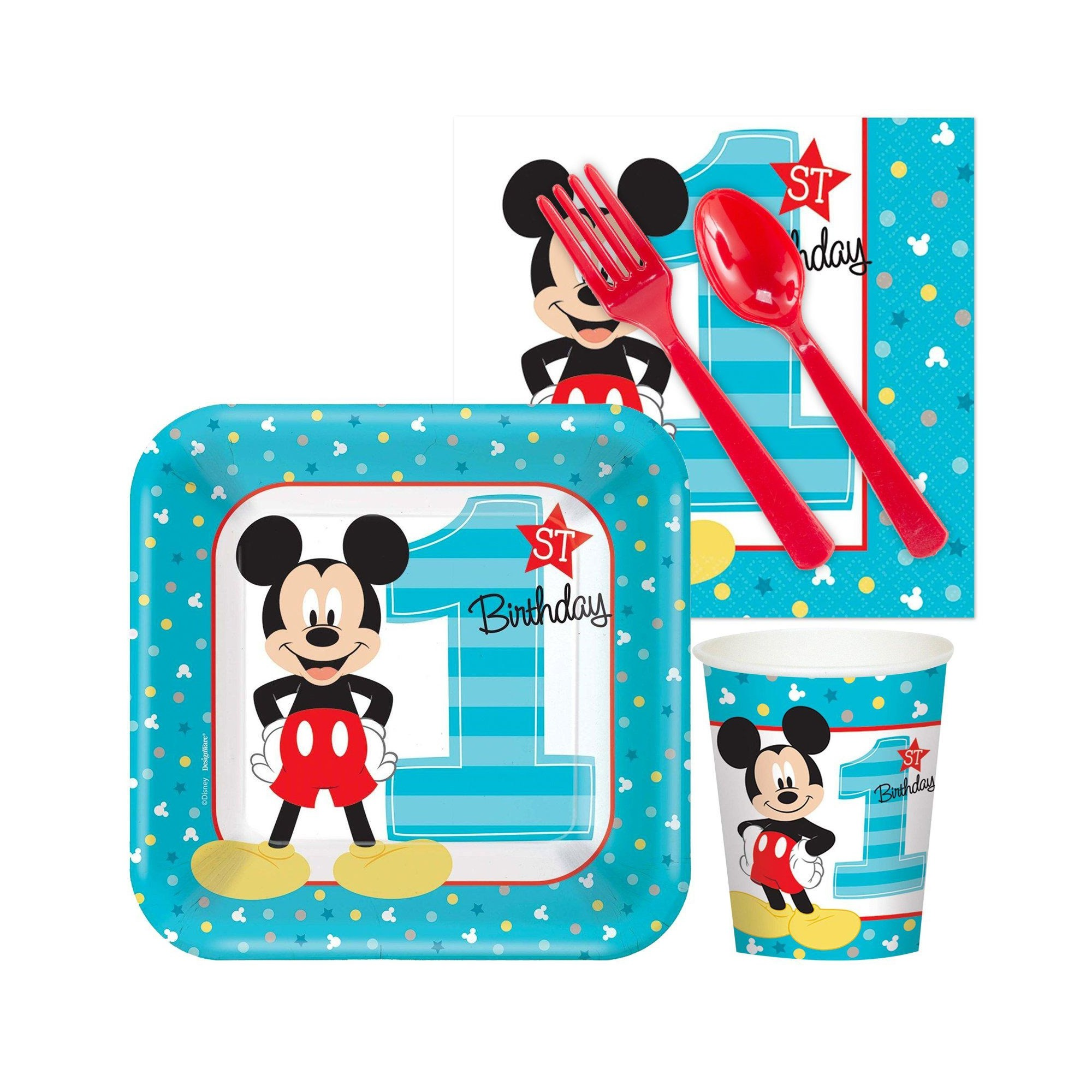 16ct Mickey Mouse 1st Birthday Snack Pack, Multi-Colored