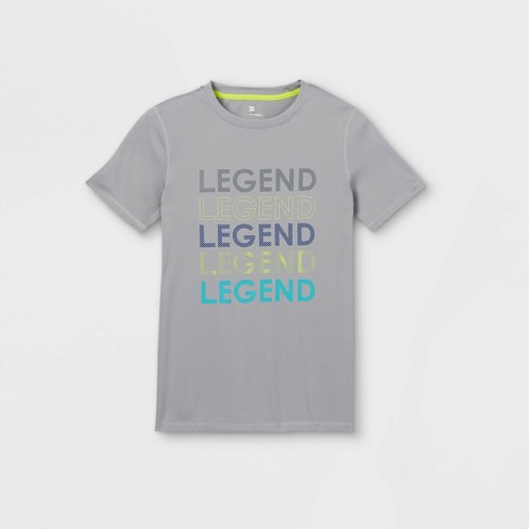Boys' Short Sleeve 'Legend' Graphic T-Shirt - All in Motion™ Gray - image 1 of 2