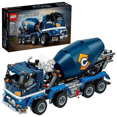 LEGO Technic Concrete Mixer Truck Model Building Kit; Ideal for Kids Who Love Construction 42112