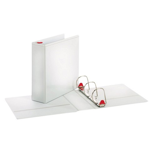 "Cardinal Treated Binder ClearVue Locking Slant-D Ring Binder, 3"" Cap, 11 x 8 1/2, White - image 1 of 2"