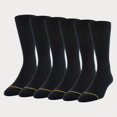 Signature Gold by GOLDTOE Men's Repreve All Season Rib Socks 6pk - 6-12.5