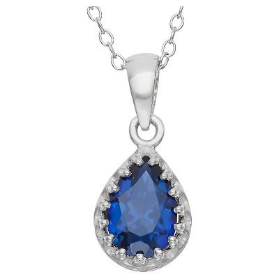 Pear-Cut Sapphire Crown Pendant