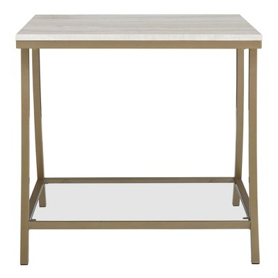 Eos Side Table Brass - Dorel Living