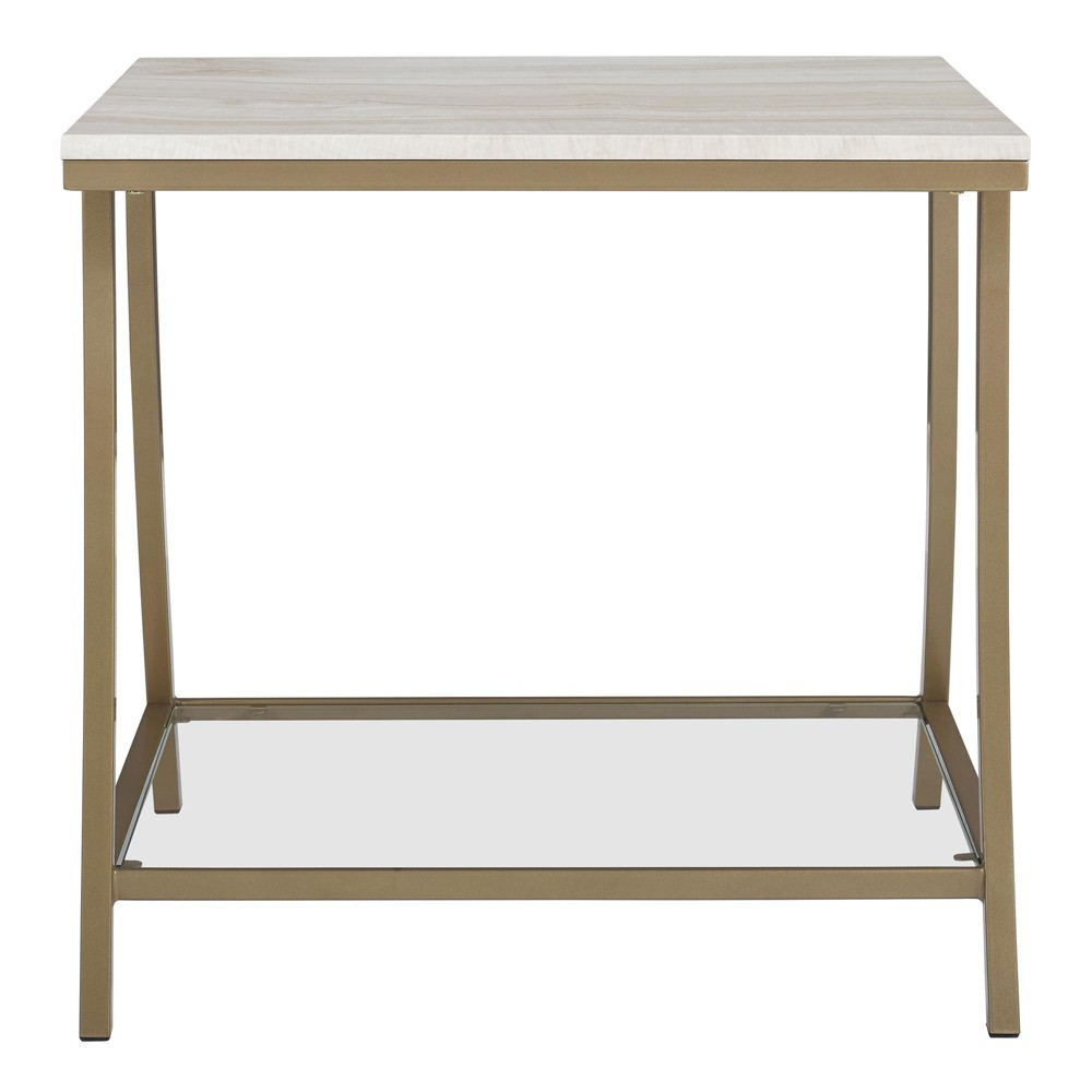 Image of Eos Side Table Brass - Dorel Living