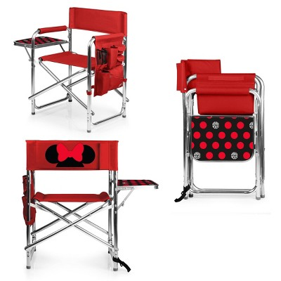 Picnic Time Disney Minnie Mouse Folding Camping Sports Chair - Red