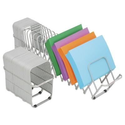LEE Flexifile Expandable Collator/Organizer 24 Slot 6 1/2 x 10 1/4 x 10 1/2 Silver 14124