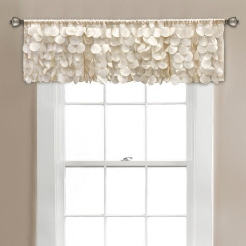"""14""""x70"""" Gigi Blackout Window Valance Ivory - Lush Dcor - image 1 of 2"""