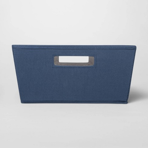Fabric Half Bin Navy - Threshold™ - image 1 of 3
