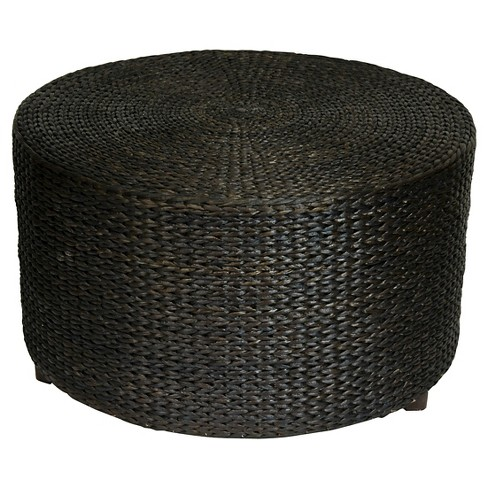 Rush Grass Coffee Table/Ottoman Black - Oriental Furniture - image 1 of 1