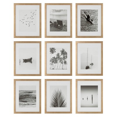 "(Set of 9)11"" x 14"" Gallery Grid Kit Gold - Instapoints"