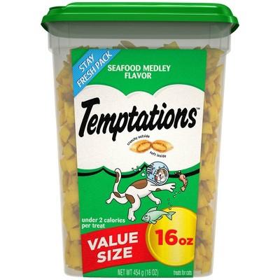 Temptations Seafood Medley Flavor Crunchy Cat Treats