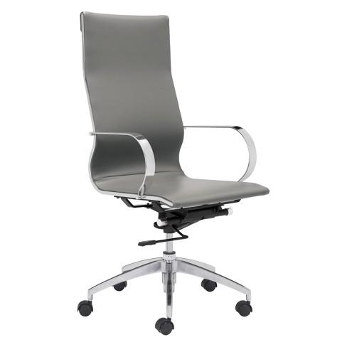 Elegant Modern High Back Adjustable Office Chair Gray Zm Home Target