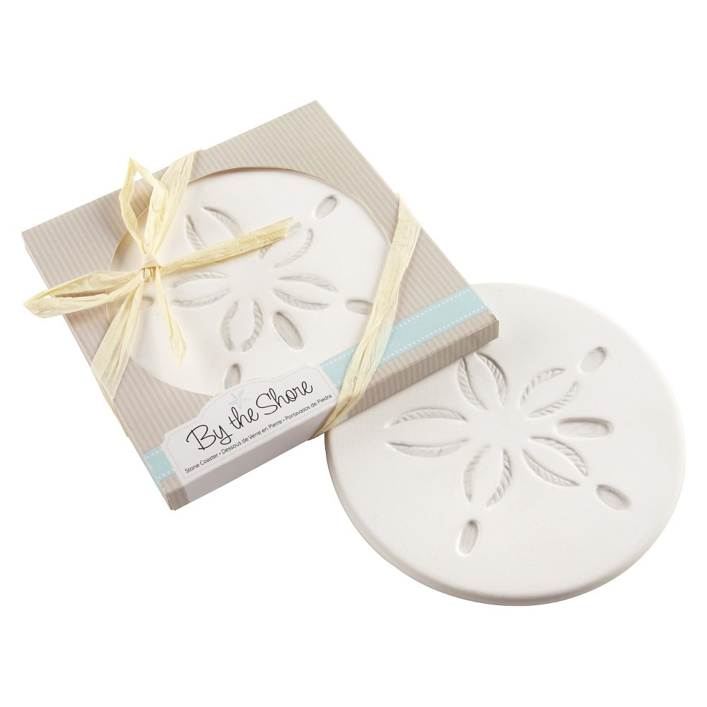 "Image of ""12ct """"By the Shore"""" Sand Dollar Coaster"""