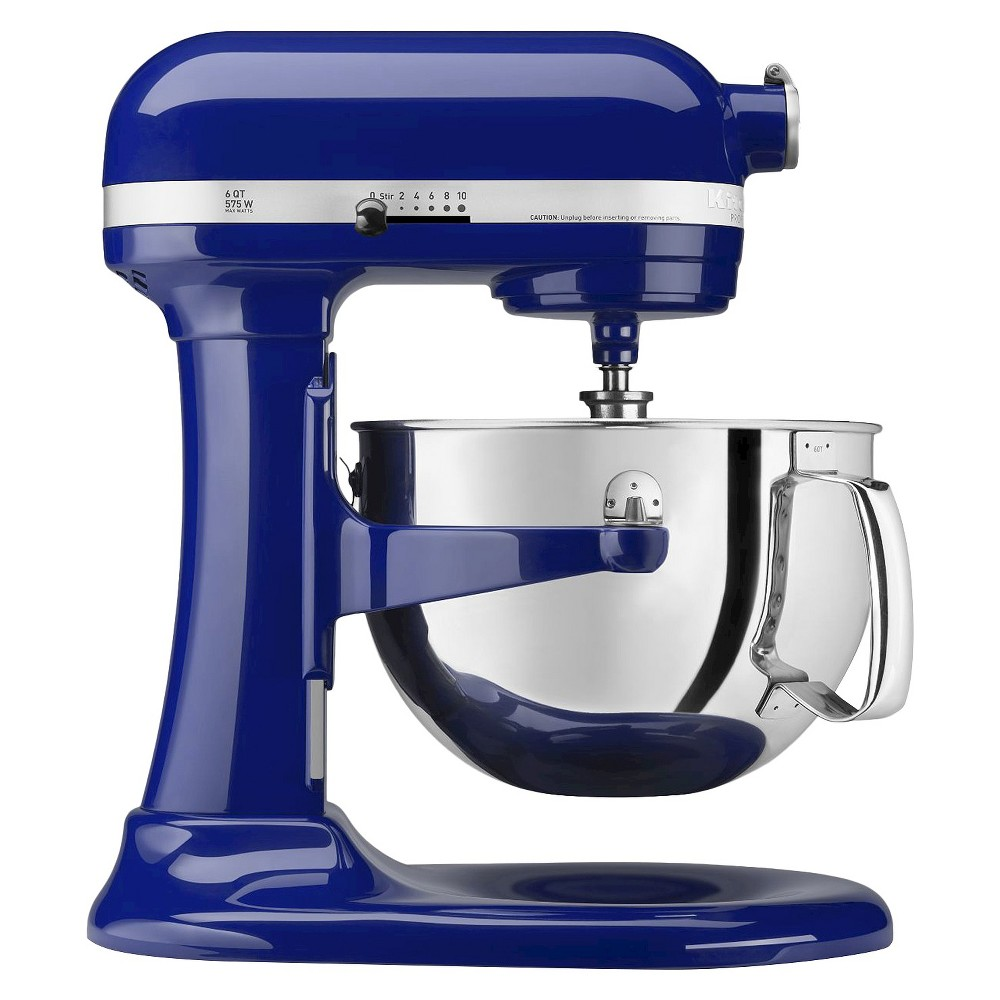 KitchenAid Professional 600 Series 6-Quart Bowl-Lift Stand Mixer - Cobalt Blue KP26M1X The KitchenAid Professional 600 Series 6 Quart Bowl-Lift Stand Mixer is perfect for heavy, dense mixtures. It also offers the capacity to make up to 13 dozen cookies in a single batch and 10 speeds to thoroughly mix, knead and whip ingredients quickly and easily. For even more versatility, use the power hub to turn your stand mixer into a culinary center with over 10 optional hub powered attachments, from food grinders to pasta makers and more. Color: Cobalt Blue.