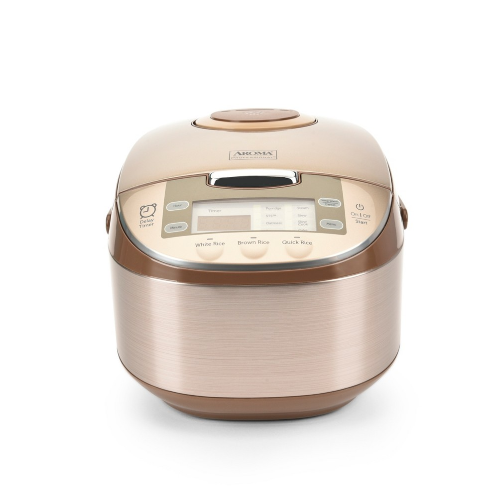 Aroma 12 Cup Egg Shape Digital Rice Cooker – Champagne (Beige) 53621769