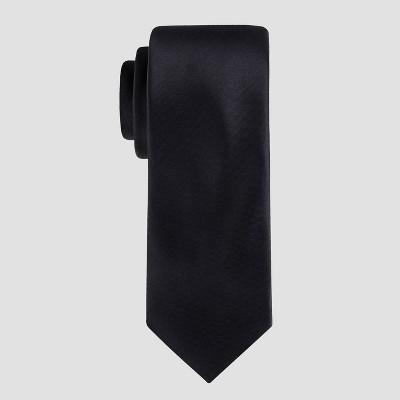 Men's Satin Skinny Tie - Goodfellow & Co™ Black One Size