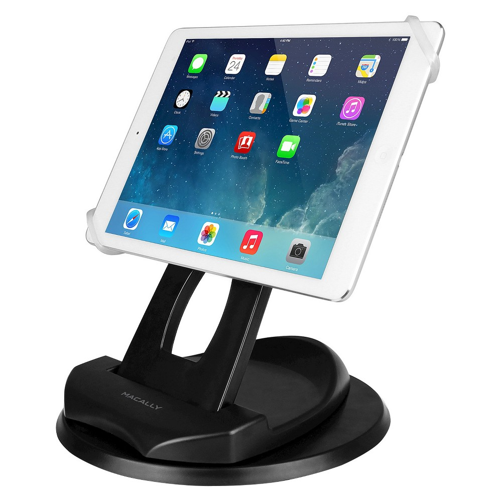 Macally Tablet Stand Up To 10 - Black (Spingrip)
