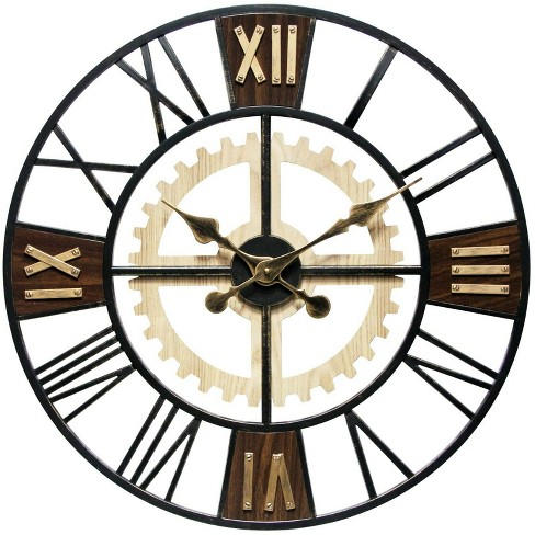 Infinity Instruments 20062 Decorative Traditional Graham Large Oversize 24 Inch Diameter Quartz Battery Powered Wall Clock, with Silent Movement - image 1 of 4