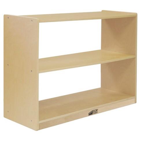 ECR4Kids Birch 2 Shelf Storage Cabinet without Back, Wood Book Shelf Organizer - image 1 of 4