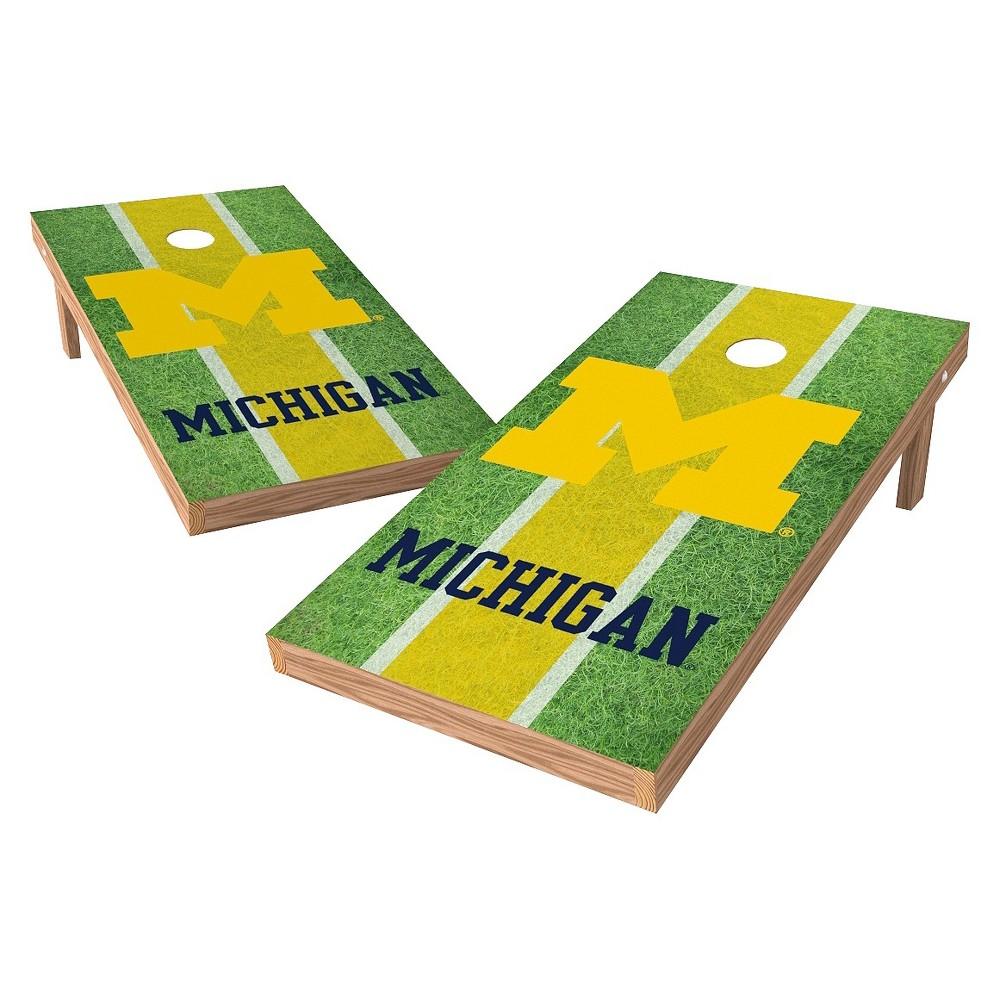Michigan Wolverines Wild Sports 2' x 4' Field Design Authentic Cornhole Set