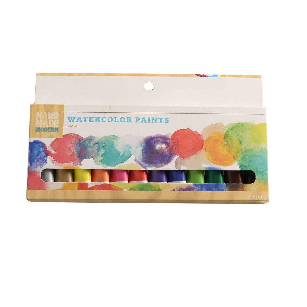 Image of 12ct Watercolor Paint Set - Assorted Hand Made Modern