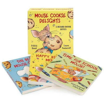 Mouse Cookie Delights: 3 Board Book Bites - (If You Give...)by Laura Joffe Numeroff (Board_book)