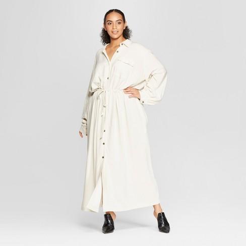 77f0ab16704 Women s Plus Size Long Sleeve Button-Up Drawstring Jacket - Who What Wear™  Khaki