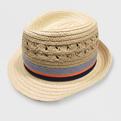 Baby Boys' Paper Straw Fedora - Cat & Jack™ Natural 12-24M