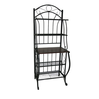 Valencia Baker Rack Storage Unit Metal/Black - Boraam Industries